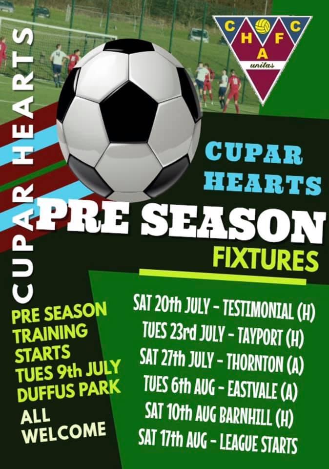 Pre-season fixtures 2019-20